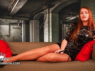 Training to dog to lick pussy Heel slave dog training and licking spit of lady julina