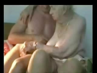 Very old grannys like to masturbate - Very old granny used by younger man. amateur older