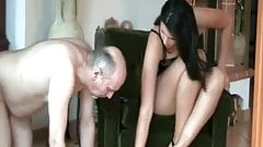 Tall  Gorgeous Mistress humiliate her slaves