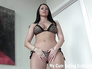 I am peeing out white chunks - I am going to milk two loads of cum out of you joi