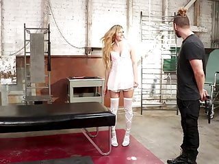 Tits bound tight - Pretty girl bound and gangbanged
