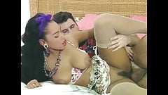 Charmaine Sinclair in interracial threesome, upscaled to 4K