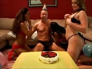 Birthday spanked - Best birthday party ever rimming assfucking