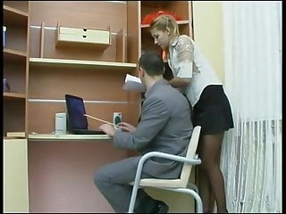 Young amateur pantyhose Young secretary takes it in the ass