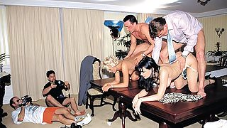 Anal Orgy in the Office