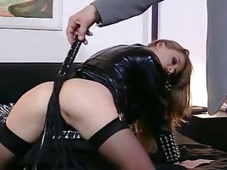 Boots sexy thigh - Naughty brunette in thigh high black boots gets banged