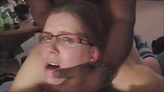 Black Cock Shooting Cum Inside While Husband watches