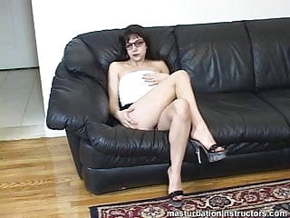 Clothed women watching guys jerk off - Clothed jerk off teacher caresses her body for teasing