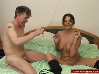 Dutch MILF Teaches Shy Dude Sex
