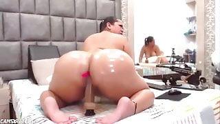 Big Ass Chubby Slut Riding Dildo