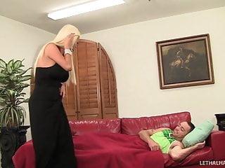 Milf and sons friend Big tit milf nikita von james fucks her sons friend on couch