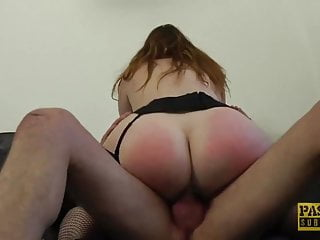 Disciplined boy slut - Fat british subslut pussy disciplined by big hard cock