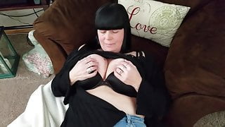 Playing in the sex chair