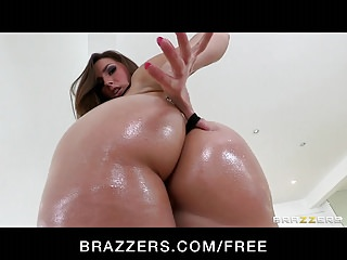 Oiled up clit Brazzers - big-booty redhead paige turnah oiled up for anal