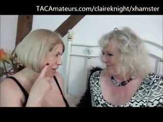 Granny shares cum - Two grannies share an indian takeaway