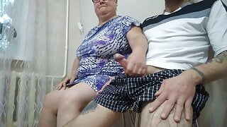 bbw girl jerks off my cock in the office