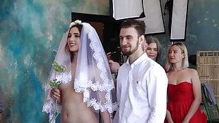 Naked bride at wedding