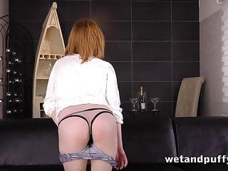 Nude redhead blowjob seduction Sexy redhead babe in a seductive solo scene