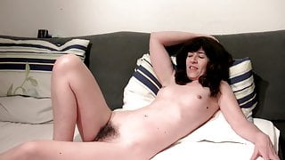 German housewife, masturbate your wet hairy cunt! Homemade