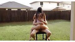 Outdoor Wild Sex Under The Rain