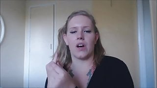 Hot chubby blonde farting and burping