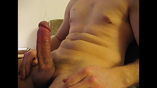 Thick cock hands free cum