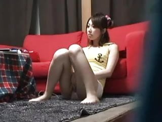 Asian female with Hidden cam catches hot female masturbation