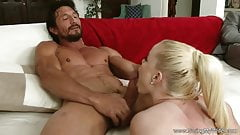 Blonde Swinger Housewife Takes Giant Cock To Fuck Deep