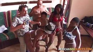 Interracial Orgy with Young Ebony Sluts