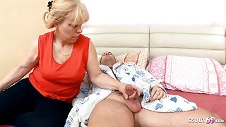 Curvy Mom wake up Stepson with BJ and get Rough Anal Sex