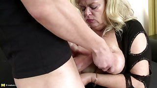 Busty natural mother fucked by young not her stepson