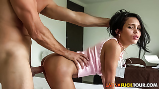 Smoking Hot Latina Teen Worn Out Hard by Huge Cock