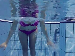 What can adults do - Hot elena shows what she can do under water
