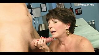 Facial compilation – Matures gets plastered with jizz #3