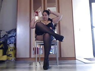 Mom chubbies wearing revealing lycra Chubby milf wearing stockings