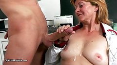 Czech granny and young boy sex