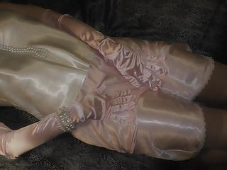 Teen satin panty Amazing shiny satin panty sex, satin gloves and nylon