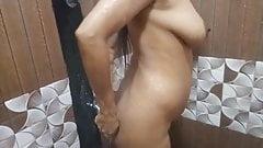 Full Naked Wife  Bathing Big Boobs Fun