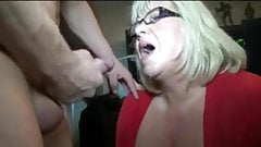 Cum Spurts on Mature Faces