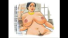Smelling mother's  panties. Porn cartoon.