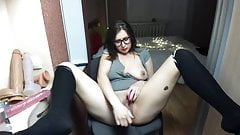 Big ass girl shows off her roomy holes