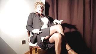 nylons and big clitty for admirers