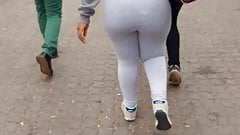 South African Thick Booty Teen Gray Spandex