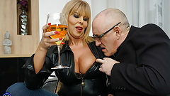 British MILF Miss Gabrielle Fox has sex with dirty old man