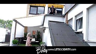 Bauarbeiter fickt geile Blondine aus Frankfurt