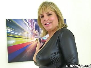Amatuer english milf - English milf danielle looks perfect in a black dress