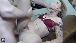 Mother gets rough anal sex from step son