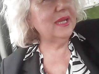 Big boob bikini Naughty granny with big natural boobs masturbates in the car