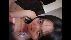 Chinese wife blowjob and drinking cum part 2