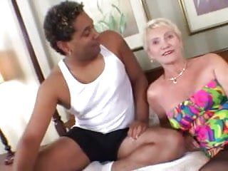 Dark young nude Granny loves younger dark cock